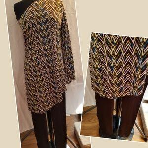 Other - Off  shoulder long top / brown leggings size med